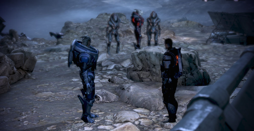 Shepard and Garrus on Palaven's moon